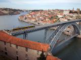 The Dom Luis 1 Bridge over River Douro, Porto (Oporto), Portugal Photographic Print by Adina Tovy