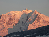 Mont Blanc Mountain Range, Megeve, Haute-Savoie, French Alps, France, Europe Photographic Print by  Godong