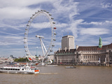 The River Thames with the London Eye, London, England, United Kingdom, Europe Photographic Print by Julian Elliott