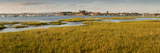 Distant View of Church at Bosham, Chichester Harbour at High Tide, West Sussex, England, UK, Europe Photographic Print by Giles Bracher