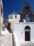 Church and Souvenir Shop at Santorini, Cyclades, Greek Islands, Greece, Europe Photographic Print by Sakis Papadopoulos