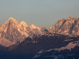 The Green Needle, Mont Blanc Mountain Range, Megeve, Haute-Savoie, French Alps, France, Europe Photographic Print by  Godong