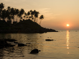 Sunset over Colomb Beach, Palolem, Goa, India, Asia Photographic Print by Stuart Black