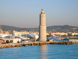 View of Shipyard Showing the Lighthouse of Livorno, Livorno, Tuscany, Italy, Europe Photographic Print by Adina Tovy