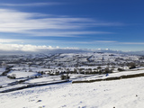 Looking over Snowy Fields in the Peak District National Park, Staffordshire, England, UK, Europe Photographic Print by Ian Egner