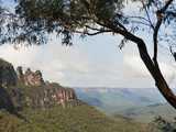 Panoramic Photo of the Three Sisters, Blue Mountains, Katoomba, New South Wales, Australia, Pacific Fotografisk trykk av Matthew Williams-Ellis