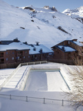 Swimming Pool in Val Claret, Highest Village in Tignes, Savoie, Rhone-Alpes, French Alps, France Photographic Print by Matthew Frost