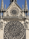 Southern Facade of Notre-Dame de Paris Cathedral, Paris, France, Europe Photographic Print by  Godong