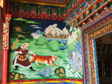 Mural in Entrance to Songzanlin Temple, Shangri-La (Zhongdian), Yunnan, China, Asia Photographic Print by Lynn Gail