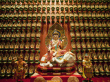 Wall of Gold Statues at the Buddha Tooth Relic Museum in Chinatown, Singapore, Southeast Asia, Asia Photographic Print by Matthew Williams-Ellis