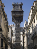 Santa Justa Elevador, Lisbon, Portugal, Europe Photographic Print by Rolf Richardson