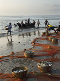 Local Fishermen Landing Catch, Benaulim, Goa, India, Asia Photographic Print by Stuart Black