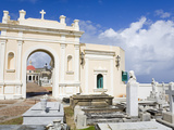 Santa Maria Magdalena Cemetery, Old City of San Juan, Puerto Rico Island, West Indies, USA Photographic Print by Richard Cummins