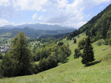 Overview of Podhom Village Near Bled, Julian Alps, Slovenia, Slovenian, Europe, European Photographic Print by Nick Upton