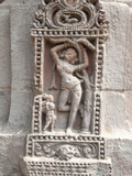 Erotic Carving of Woman on 11th Century Rajarani Temple, known as Love Temple, Bhubaneshwar, India Photographic Print by Annie Owen