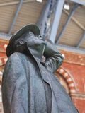 The Statue of Sir John Betjeman at St. Pancras International Station in London, England, UK, Europe Photographic Print by Julian Elliott