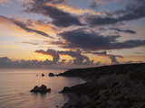 Aphrodite's Rock at Sunset, Paphos, UNESCO World Heritage Site, South Cyprus, Cyprus, Mediterranean Photographic Print by Stuart Black