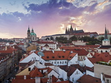 St. Vitus Cathedral and St. Nicholas Church, Prague, Czech Republic, Europe Photographic Print by Gavin Hellier