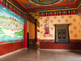 Tibetan Drawings in Songzanlin Temple, Shangri-La (Zhongdian), Yunnan, China, Asia Photographic Print by Lynn Gail
