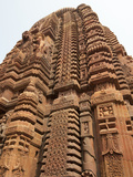 Ornately Carved Vimula of 10th Century Muktesvara Temple, Bhubaneshwar, Orissa, India Photographie par Annie Owen