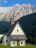 Church and Latemar Group Mountains Near Welschnofen, Trentino-Alto Adige/South Tyrol, Italy Photographic Print by Frank Fell