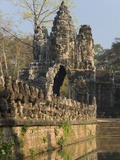South Gate, Angkor Thom, Angkor Archaeological Park, UNESCO World Heritage Site, Cambodia Photographic Print by Richard Maschmeyer