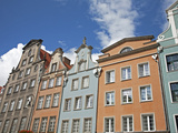 Colourful Building Facades on Long Market (Dlugi Targ), Gdansk, Pomerania, Poland, Europe Photographic Print by Adina Tovy