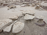 Small Mushroom Formations in the Badlands, Bisti Wilderness, New Mexico, USA, North America Photographic Print by James Hager