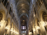 Nave, Notre-Dame de Paris Cathedral, Paris, France, Europe Photographic Print by  Godong