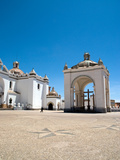Exterior of Copacabana Cathedral with Crystal Blue Sky, Bolivia, South America, Oct 2007 Photographic Print by Phil Clarke-Hill