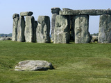 Standing Stone Circle of Stonehenge, 3000-2000BC, UNESCO World Heritage Site, Wiltshire, England Reproduction photographique par Ethel Davies