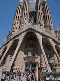 Facade of Sagrada Familia Cathedral by Gaudi, UNESCO World Heritage Site, Barcelona, Spain Photographic Print by Adina Tovy