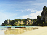 Rai Leh West Beach, Rai Leh (Railay), Andaman Coast, Krabi Province, Thailand, Southeast Asia, Asia Photographic Print by Jochen Schlenker