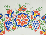 Moravian Slovacko Folk Design on Facade of Wine Cellar, Village of Petrov, Brnensko, Czech Republic Photographic Print by Richard Nebesky