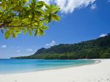 Turquoise Water and White Sand at Champagne Beach, Island of Espiritu Santo, Vanuatu, South Pacific Fotografie-Druck von Michael Runkel