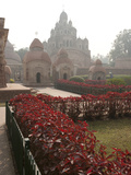 Gardens around Siddheswari Kalibari, Dominating Terracotta Temple Complex, Kalna, India Photographic Print by Annie Owen