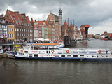 View Along River Motlawa Showing Harbour and Old Hanseatic Architecture, Gdansk, Pomerania, Poland Photographic Print by Adina Tovy