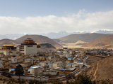 Village Surrounding Songzanlin Temple, Shangri-La (Zhongdian), Yunnan, China, Asia Photographic Print by Lynn Gail