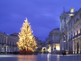 Duomo Square at Christmas, Ortygia, Siracusa, Sicily, Italy, Europe Photographic Print by Vincenzo Lombardo