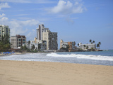 Beach, Isla Verde, San Juan, Puerto Rico, West Indies, Caribbean, USA, Central America Photographic Print by Wendy Connett
