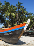 Traditional Fishing Boat, Palolem, Goa, India, Asia Photographic Print by Stuart Black
