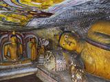 Buddha Statues, Dambulla Cave Temple, UNESCO World Heritage Site, Dambulla, Sri Lanka, Asia Photographic Print by Jochen Schlenker