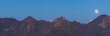 Giant Moon Rising over the Mountains, Malibu Canyon, Ventura, California, USA, North America Photographic Print by Antonio Busiello