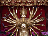 Statue of Avalokitesvara, Buddhist Goddess, Yuantong Temple, Kunming, Yunnan, China, Asia Photographic Print by Lynn Gail