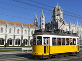 Mosteiro Dos Jeronimos, UNESCO World Heritage Site, and Tram (Electricos), Belem, Lisbon, Portugal Photographic Print by Stuart Black