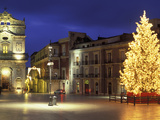 Duomo Square at Christmas, Ortygia, Siracusa, Sicily, Italy, Europe 写真プリント : ビンチェンツォ ・ロンバルド