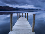 Dawn at Ashness Landing Jetty on Derwentwater, Keswick, Lake District Nat'l Park, Cumbria, England Photographic Print by Ian Egner