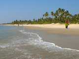 View Along Beach, Benaulim, Goa, India, Asia Photographic Print by Stuart Black