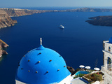 View from Imerovigli Overlooking Ocean, Santorini, Cyclades, Greek Islands, Greece, Europe Photographic Print by Sakis Papadopoulos