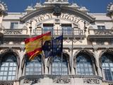 Old Barcelona Port Authority Building at Base of Rambla del Mar, Barcelona, Spain Photographic Print by Adina Tovy